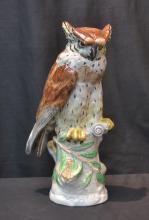 DRESDEN PORCELAIN OWL - 6