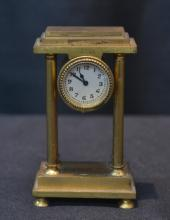 MINIATURE BRONZE CLOCK - 2
