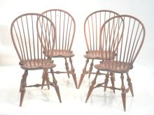 (4) D.R. DIMES BOWBACK SIDE WINDSOR CHAIR