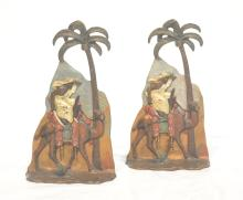 COLD PAINTED VIENNA BRONZE BOOKENDS