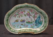 19thC CHINESE BOWL WITH BIRDS & DUCKS