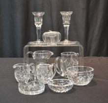 ASSORTED WATERFORD LOT - (Pr) CANDLESTICKS ,