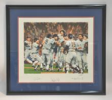1978' NEW YORK YANKEES WORLD SERIES LITHOGRAPH
