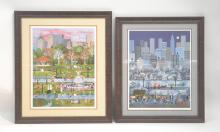 (2) HAND SIGNED JANE WOOSTER SCOTT LITHOGRAPHS