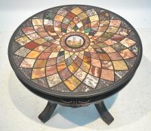 ITALIAN MICRO MOSAIC & SPECIMEN MARBLE TABLE