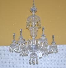 6-ARM WATERFORD ? CHANDELIER WITH CRYSTALS