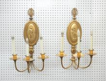 (Pr) BRONZE 3-ARM SCONCES WITH NEO CLASSICAL