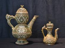 SZOLNAY RETICULATED DOUBLE WALL EWER
