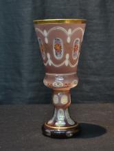 BOHEMIAN GLASS CHALICE - 4