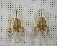 (Pr) TOLE & CRYSTAL SCONCES - 9