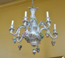 DRESDEN PORCELAIN CHANDELIER WITH
