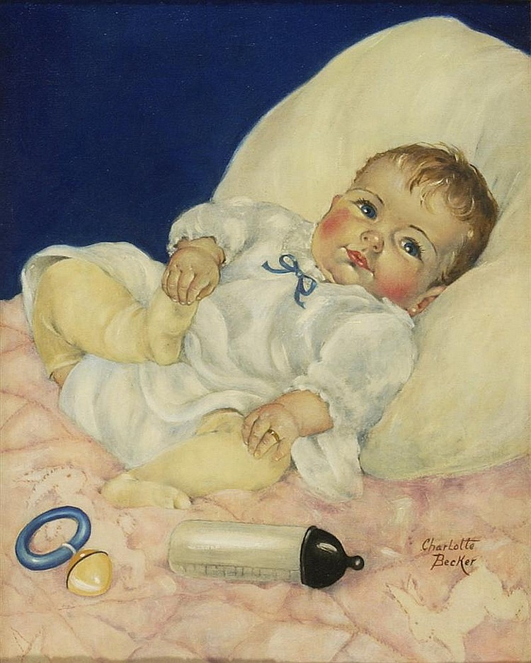 CHARLOTTE BECKER, American, 1907-1984, Original illustration for a ...
