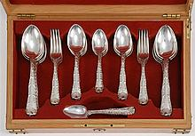 TIFFANY & CO. STERLING SILVER PARTIAL FLATWARE SET In the