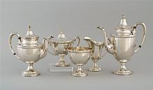 FIVE-PIECE MANCHESTER SILVER CO. STERLING SILVER COFFEE SET In the