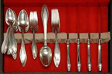 TOWLE STERLING SILVER PARTIAL FLATWARE SET In the