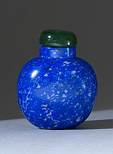 LAPIS LAZULI SNUFF BOTTLE In ovoid shape in a fine blue color. Height 2