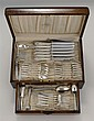 CASED INTERNATIONAL SILVER CO. STERLING SILVER PARTIAL FLATWARE SET In the