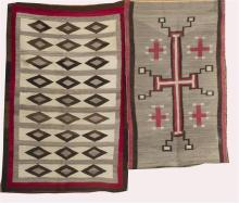 TWO AMERICAN NATIVE RUGS 3'7
