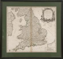 MAP OF THE BRITISH ISLES Titled and inscribed within a cartouche: