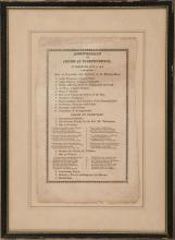 PRINTED PROGRAM FROM THE 1818 FOURTH OF JULY CELEBRATION IN REHOBOTH, MASSACHUSETTS Titled the