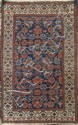 ORIENTAL RUG: HAMADAN With boteh and flower design on a blue field.
