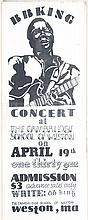BLACK & WHITE B.B. KING CONCERT POSTER BY LOUISA MCELWAIN. Concert was held