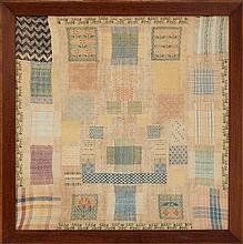 RARE FRAMED DARNING SAMPLER Probably Dutch.