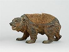 AUSTRIAN COLD-PAINTED BRONZE NIB CLEANER In the form of a bear. Marked