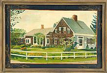 ELIZABETH MUMFORD, Cape Cod, Contemporary, A Cape Cod home., Oil on board, 10