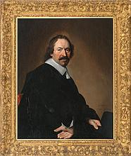 JOHANNES CORNELISZ VERSPRONCK, Dutch, 1600/03-1662, A seated gentleman, possible a self portrait., Oil on panel, 35