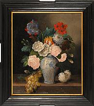 HENRI NARDEUX, French, 19th Century, Still life of flowers in a vase., Oil on canvas, 20