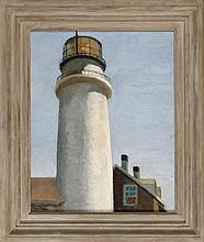 C.F. BRESNAHAN, American, Contemporary, Highland Light, Truro., Oil on board, 20