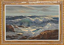 WILLIAM COLUMBUS EHRIG, American, 1892-1973, Rocky coastal scene., Oil on canvas, 24