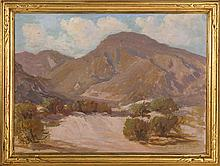 HARRY CRAIG SMITH, American, 1882-1957, Desert landscape, likely California., Oil on canvas, 18