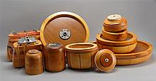 ELEVEN ASSORTED WOODEN NANTUCKET BASKET MOLDS Various shapes and sizes. Smallest height 2
