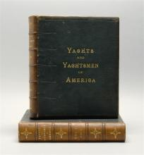(YACHTING) Mott, Henry A.,Yachts and Yachtsmen of America. N.Y., 1894. Two vols. Illustrated. Folio. Leather-bound.