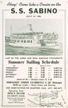 POSTER FOR THE S.S. SABINO With sailing schedule out of Salisbury, Massachusetts. 22