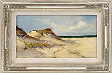 ARTHUR VIDAL DIEHL, Massachusetts, 1870-1929, Provincetown dunes., Oil on board, 5.5