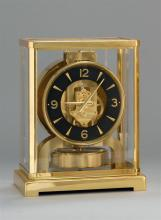 JAEGER LECOULTRE ATMOS CLOCK Black dial with brass numerals. Stamped on face