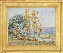 WILLIAM OTIS SWETT, JR., American, 1859-1938, Impressionist landscape., Oil on canvas, 16