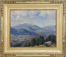 CHARLES C. MCKIM, American, 1862-1939, Mount Washington., Oil on canvas, 18