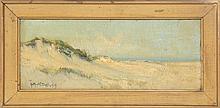 ARTHUR VIDAL DIEHL, Massachusetts, 1870-1929, Provincetown dunes., Oil on board, 6