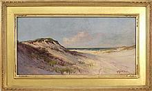 ARTHUR VIDAL DIEHL, Massachusetts, 1870-1929, Dune scene, likely Provincetown, Massachusetts., Oil on canvas, 12