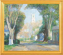 HAROLD C. DUNBAR, Cape Cod, 1882-1953, Main Street, Chatham, Massachusetts., Oil on canvas, 34