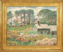 HAROLD C. DUNBAR, Cape Cod, 1882-1953, Cape Cod houses., Oil on canvas, 22