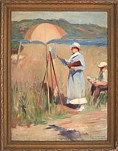 HENRY RITTENBERG, New York/Pennsylvania, 1879-1969, Artist en plein air., Oil on canvas, 24