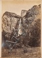 PHOTO ALBUM OF WESTERN SCENES Approx. fifty-two black and white images depicting Pike's Peak, Garden of the Gods, the Royal Gorge, M..