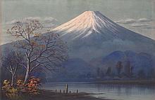 K. SEKI Mount Fuji at sunrise. watercolor on paper, 12