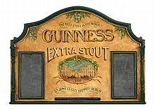 HAND-PAINTED GUINNESS SIGN FROM ANTHONY'S PIER 4, BOSTON