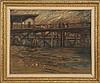 ARTHUR CLIFTON GOODWIN, American, 1864-1929, Pier scene., Pastel on paper, 16
